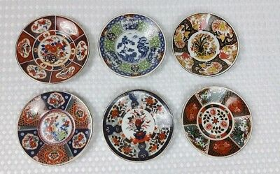 6 Imari Japanese Saucers Beautiful Designs and Colours Excellent Condition