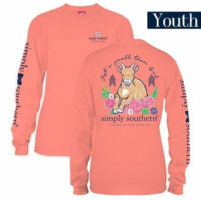 Youth Goat Just A Small Town Girl Preppy Long Sleeve Simply Southern Tee