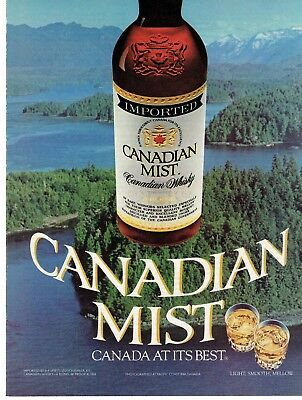 Full Page 1985 Magazine Advertisement Canadian Mist Whisky Ready to Frame