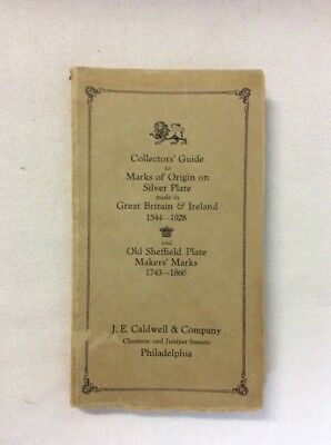Collector's Guide Marks of Origin on Silver Plate & Old Sheffeld Plate (PB)-Fair