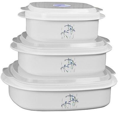 Corelle Coordinates by Reston Lloyd 6-Piece Microwave Cookware, Steamer and