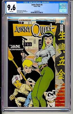 Jonny Quest #5  CGC 9.6 White Pages  Comico 1985  Dave Stevens cover