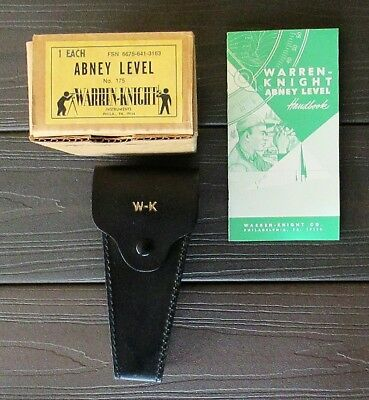 WARREN-KNIGHT CO. No.175 ABNEY LEVEL INCLINOMETER NEW IN BOX WITH INSTRUCTIONS