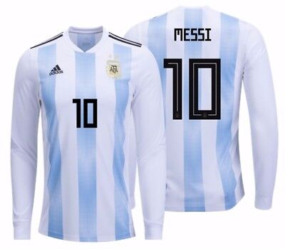 ADIDAS LIONEL MESSI Argentina Long Sleeve Home Jersey World Cup 2018 ... ca4819c0d