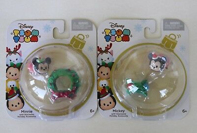 Disney Mickey & Minnie Mouse Tsum Tsum Stackable Holiday Accessory Christmas