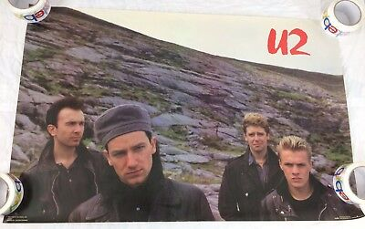 U2 1985 BAND Poster Forty Seconds 4022 Funky Vintage