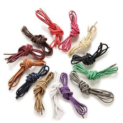 "1Pair 2pcs Shoe Laces Round Waxed Dress Boots VARIOUS COLORS 27"" inches(70cm)"