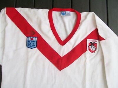 vintage nswrl nrl cotton jersey rugby league team st george dragons size 20 xos