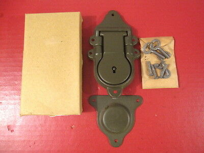 WWII Era US Army Officer's Foot Locker Lock or Latch Assembly Dated 1943 - MINT