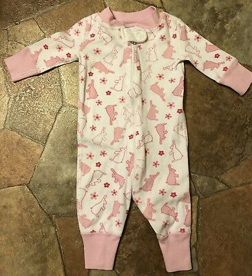HANNA ANDERSSON Baby Organic Footed Sleeper Feet Soft Blossom 50 0-6 mos NWT