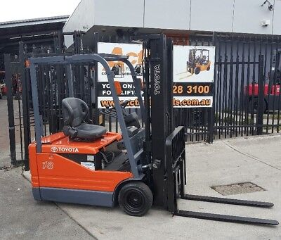Toyota Electric Forklift 5FBE18 4.7m Lift Container Entry Fresh Paint $8999+GST