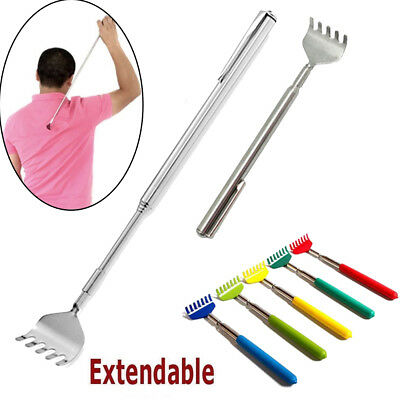 Metal Stainless Steel  Back Scratcher Telescopic Extendable Itching Aid Extender