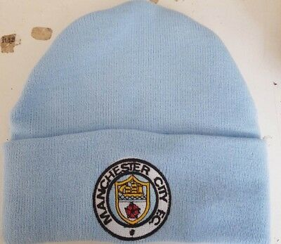 Manchester City Retro wooly Hat Beanie Hat The Citizens, The Sky Blues