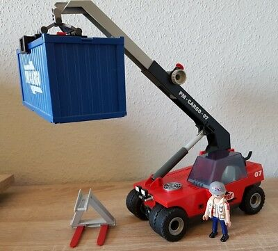 Playmobil 5256 Großer Containerstapler Cargo City Action
