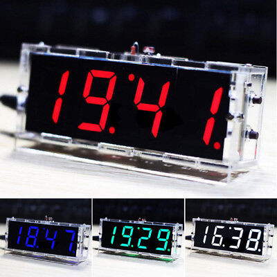 DIY kits Digital LED Electronic Microcontroller Clock Large Screen display time