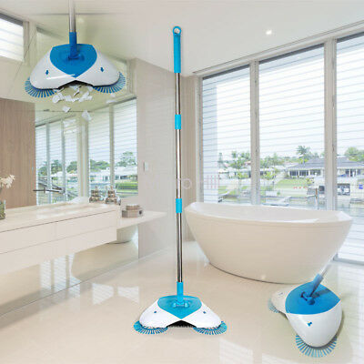 As Seen On TV Hurricane Spin Broom Cordless Lightweight No-touch Large-capacity