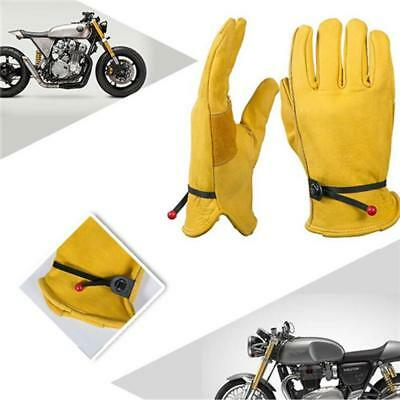 HOT Cowhide Men Work Driver Gloves Security Protection Safety Workers Welding