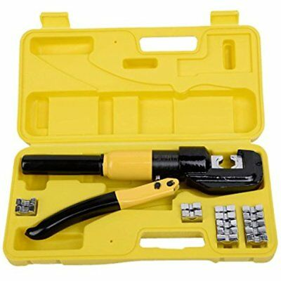 Ton Crimpers Hydraulic Wire Battery Cable Lug Terminal Electrical Crimping Tool