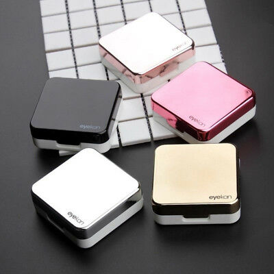 Contact Lens Portable Mini Plastic Travel Holder Storage Soaking Box Case Set FR