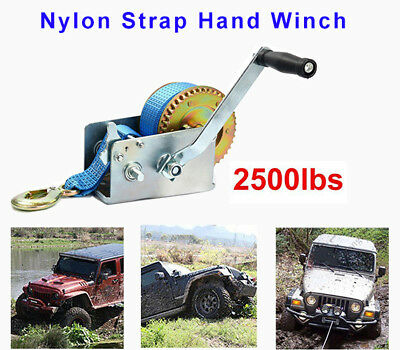 2500LBS/1136KGS 2-Speed Strap Hand Winch For Boat, Trailer and 4WD