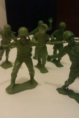 Vintage 1970's large 7cm plastic TOY SOLDIERS.HONG KONG MARKED.