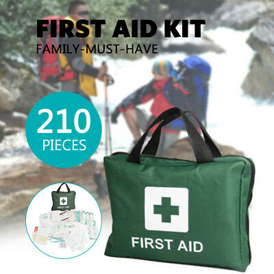 210 pieces Car Travel First Aid Kits Emergency Bag Family Survival Medical ARTG