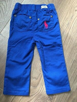 Polo Ralph Lauren Royal Blue Chinos 18 Months NEW