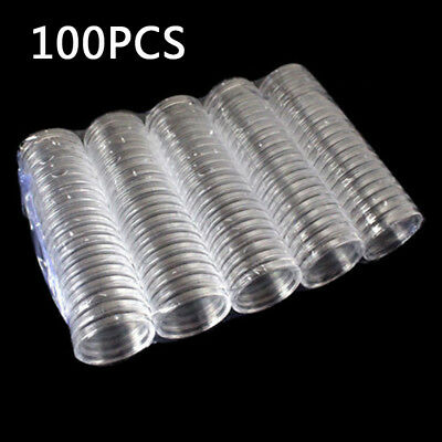10/100 40mm Applied Clear Round Cases Coin Storage Capsules Holder Round Plastic