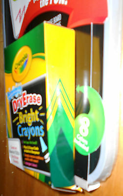 Crayola Dual Sided Whiteboard with Crayola Bright Whiteboard Crayons - New