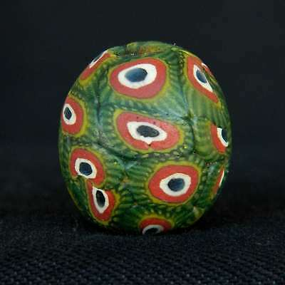 ANCIENT Indonesian JATIM Glass BEAD - 18.5 mm LONG - 1800s /1900s - Sahara