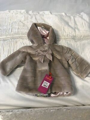 Ted Baker Taupe Coloured Coat 6-9 Months Bnwt