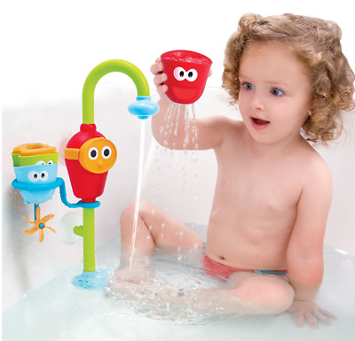 Baby Bath Toy - Flow N Fill Spout - Three Stackable Cups and Automated