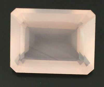 18.29 Ct Natural Rose Quartz Rectangle Cut Gem Loose Pink 19.5 X 15 Mm Certified