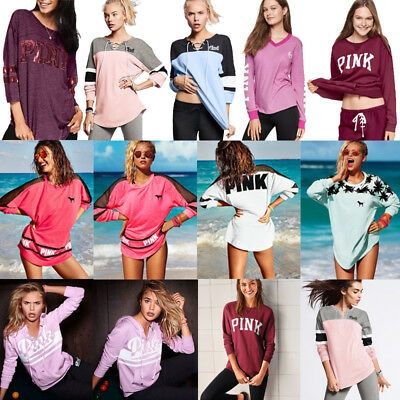 Women Long Sleeve Hoodie Pullover Sweatshirt Ladies Casual Blouse Summer Tops 01