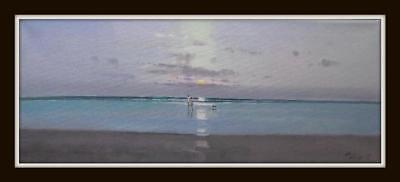 Paddlers on the Shore 6 : Original Oil Painting by Zlatan Pilipovic