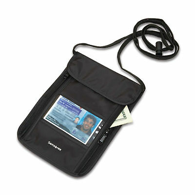 Samsonite RFID Neck Pouch Black - Luggage