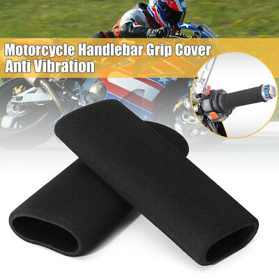 2x Racing Motorcycle Bike Slip-on Foam Anti Vibration Handlebar Bar Grip Covers