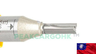 """TCT Carbide 1/2"""" Shank 2-Flute Straight Router Bit Cutter Plywood LDF MDF Board"""