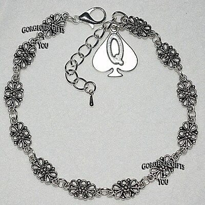 Sexy Queen Of Spades Hotwife Filigree Chain Ankle Bracelet Anklet Boho Gift