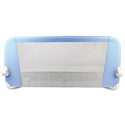 Lindam Easy Fit Bed Guard Blue Convenient Fold Down Position