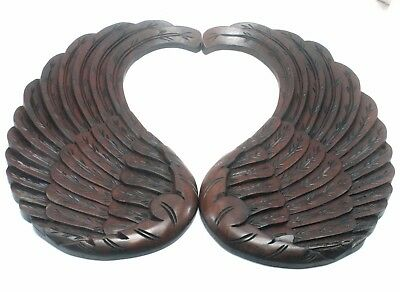 Exceptional Carved Wooden Angel Wings