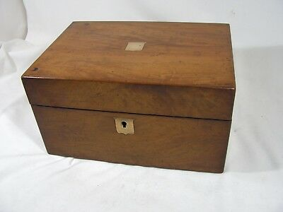 Antique Walnut Jewellery / Sewing Box