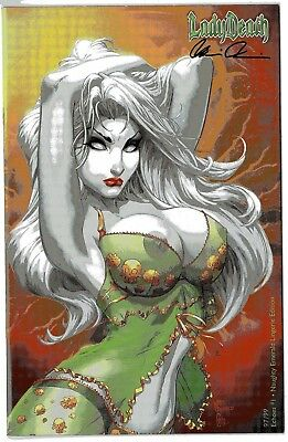 Lady Death Echoes 1 NAUGHTY EMERALD 72/99 sign by Brian Pulido COA FREE UK POST