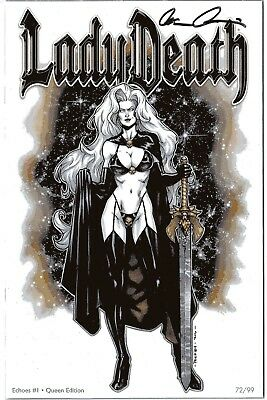 Lady Death Echoes 1 QUEEN edition 72/99 signed by Brian Pulido COA FREE UK POST