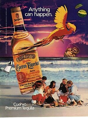 Full Page 1985 Magazine Advertisement Cuervo Especial Tequila Ready to Frame