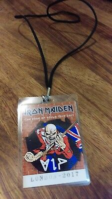 IRON MAIDEN Laminated VIP Pass - Book of Souls Tour 2017