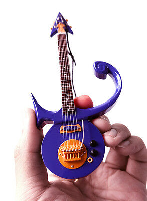 "Miniature Guitar Prince Purple Prince Symbol Signature 6"" Ornament Super Mini"