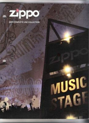 """2009 ZIPPO COLLECTION CATALOG NEW NEVER USED,5 1/4""""x7"""" Mini Catalog,Reference"""
