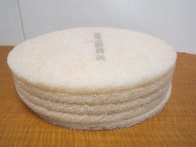 Lot Of 5 3M 3200 Peach Color Non-Woven Polyester 20 In Floor Burnishing Pads