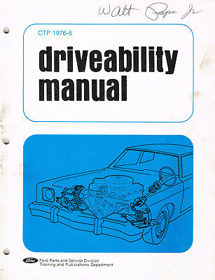 1976 Ford Auto Driveability Manual Engine Fuel Stalls M066